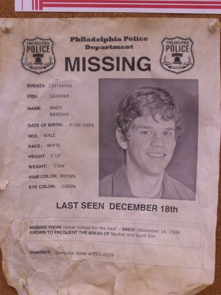 Ryan Lane Online Missing person flyer – Missing Person Flyer